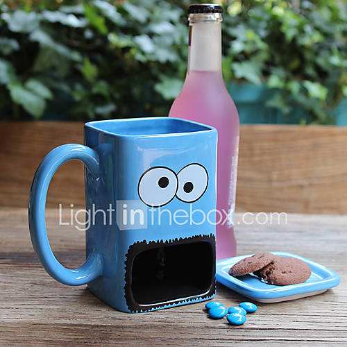 Novelty Cartoon Drinkware 300 ml Big Mouth Ceramic Juice Water Coffee Mug