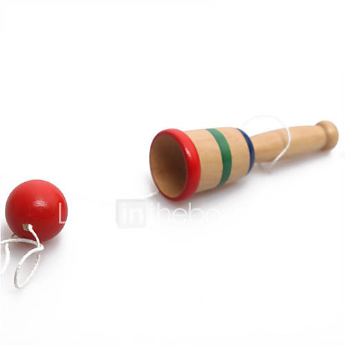 Japanese Sword Ball  Hand Eye Coordination Exercise  Children Section Toys Leisure Hobby Toys Novelty Sphere Wood Red For Boys For Girls