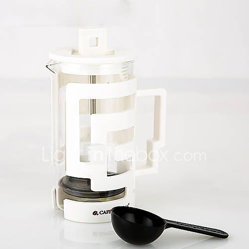 350 ml  Plastic Glass French Press  3 cups Brew Coffee Maker Reusable