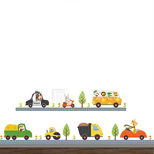 Wall Stickers Wall Decals Style Creative Cartoon Car PVC Wall Stickers