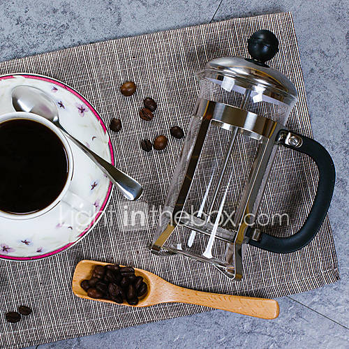 350 ml  Stainless Steel Plastic French Press  3 cups Scented Tea Maker Reusable