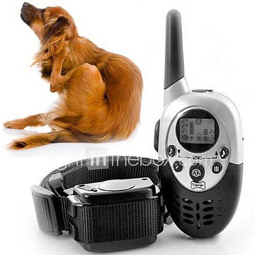 Dog Training Collars Adjustable / Retractable Training Shock/Vibration Remote Control Electronic/Electric Solid Plastic Black