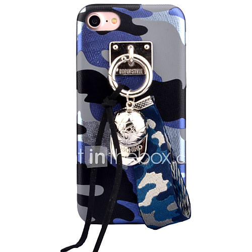 For Apple iPhone 7 7Plus 6S 6Plus Case Cover Camouflage Pattern High-Grade Imitation Leather DIY Ornaments Phone Shell