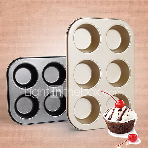 Even 6 Circular Muffin Cake With Cup Cake Bread Mould Even 6 Muffins Carbon Steel Plate Pan