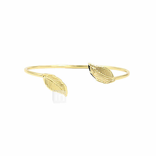Cuff Bracelet Fashion Movie Jewelry Adjustable Handmade Open Alloy Leaf Jewelry For Wedding Party Special Occasion Anniversary Birthday