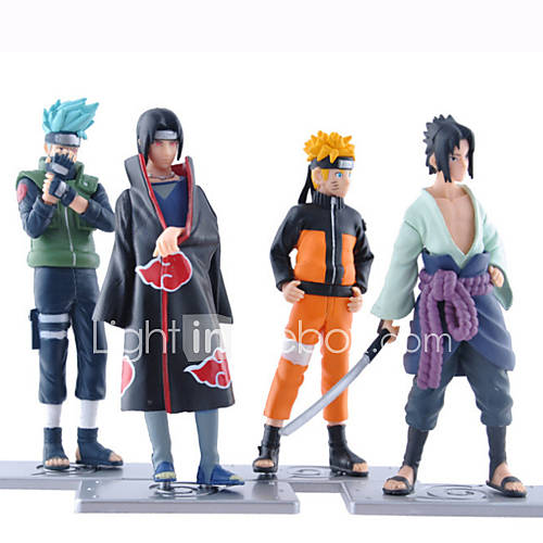 Anime Action Figures Inspired by Naruto Naruto Uzumaki PVC 19 CM Model Toys Doll Toy 1set