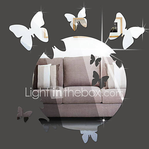 3D Wall Stickers Wall Decals Style Butterfly Mirror Wall Stickers