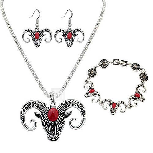 Jewelry Set Jewelry Unique Design Dangling Style Gothic Movie Jewelry Rock Multi-ways Wear Africa Resin Chrome Animal Shape