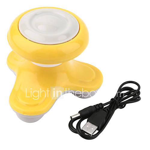 1Pcs Mini Electric Handled Wave Vibrating Massager Usb Battery Full Body Massage Color Random