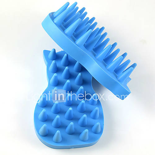 2017 Hot sales Pet Bath brush massage High quality rubber Dog Bath Brush Pet supplies