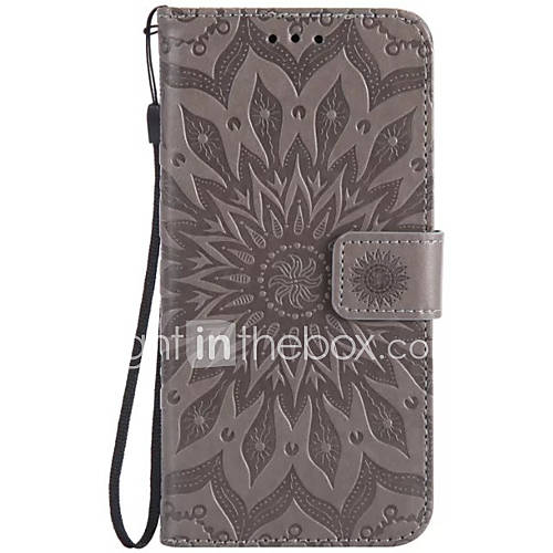 Case For Samsung Galaxy Card Holder Wallet with Stand Flip Embossed Full Body Cases Flower Hard PU Leather for Note 5 Note 4 Note 3