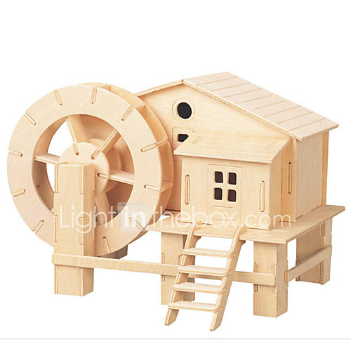 Jigsaw Puzzles DIY KIT 3D Levigation Cottage Logic  Puzzle Toys Building Blocks DIY Toys Square Furniture