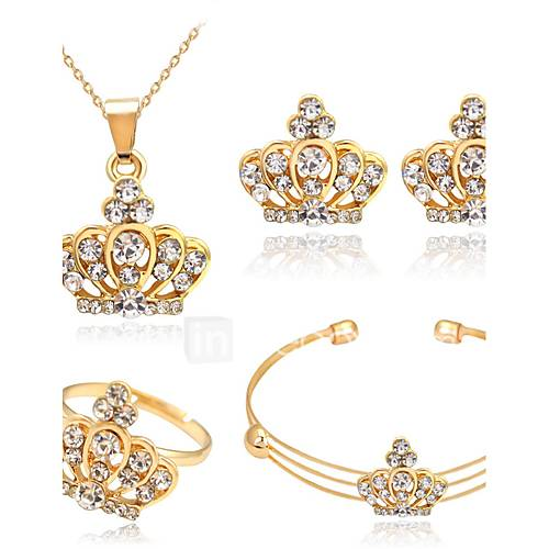 Women's Jewelry Set Crystal Rhinestone Alloy Crown Basic Christmas Gifts Wedding Party Special Occasion Anniversary Birthday Graduation