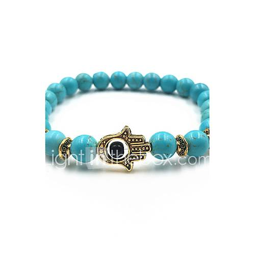New Arrival Nature Stone Evil Eye Hand Strand Bracelets Daily / Casual 1pc Hot Sale