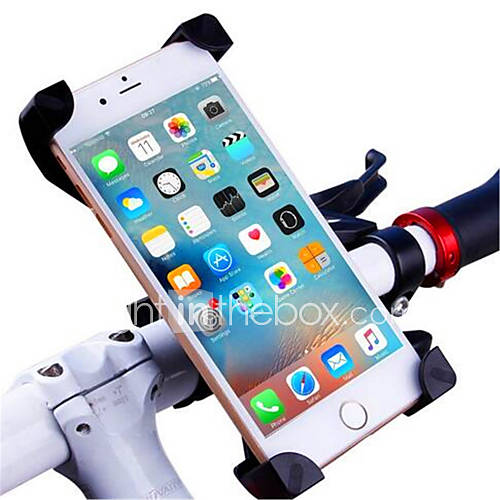 Phone Holder Stand Mount Bike Motorcycle Outdoor Adjustable Stand ABS for 3-7Inch Below Mobile Phone