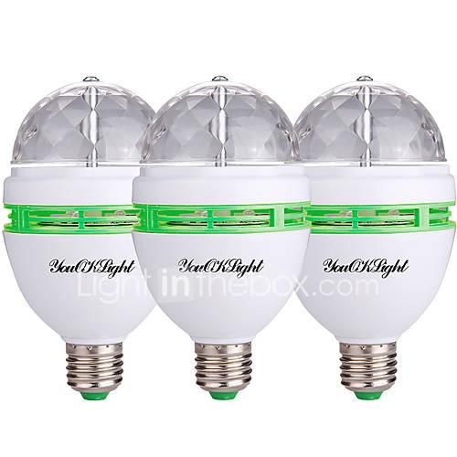 E27 3W RGB 16 Color Changing LED Crystal Light Bulb Lamp AC85-265V + IR Remote 339440