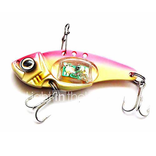 "1 pcs Hard Bait Metal Bait Fishing Lures Hard Bait Metal Bait Trolling Lure Assorted Colors g/Ounce80 mm/3-1/4"" inchMetalBait Casting"