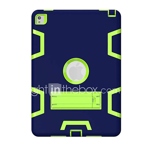 For iPad Air Air 2 Kids Safe Armor Shockproof Heavy Duty Silicon PC Stand Back Case Cover