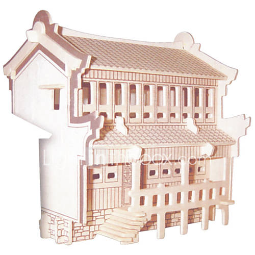 Jigsaw Puzzles DIY KIT 3D JiangNan Family Logic  Puzzle Toys Building Blocks DIY ToysSquare Famous buildings Chinese Architecture