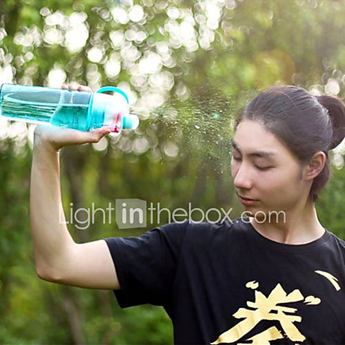 1Pcs  Sports Spray Water Bottle Dual-Use Bpa Free Plastic Bottles For Water Fashion Space Cups