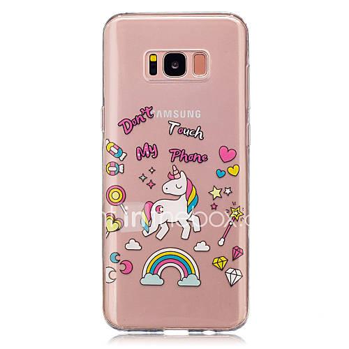 For Samsung Galaxy  S8 Plus S8 Unicorn Pattern Case Back Cover Case  Soft TPU for Samsung Galaxy S5 Mini S4 Mini