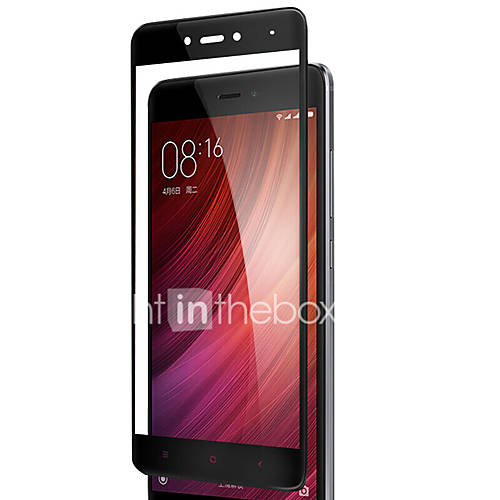 For Red RiceNote4 West Malone Tempered Film Phone Protective Film Tempered Glass Foil  Full-Screen Tempered Film - Black