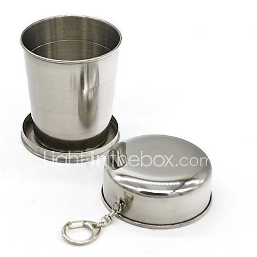 1Pcs Stainless Steel Camping Folding Cup Traveling Outdoor Camping Hiking Sports Mug Portable Collapsible Cup Bottel