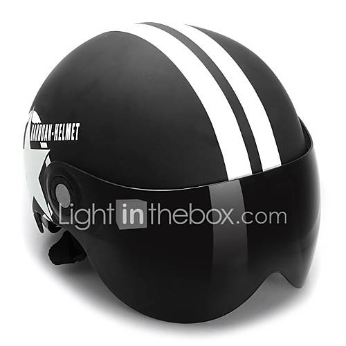 Motorcycle Helmet Half Open Face Adjustable Size Protection Gear Head Helmets Unisex Five-pointed Star Black Newest