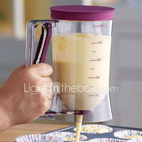 Hot Fashion New Baking Tool Pancake Batter Dispenser Cake Dispenser Funnel Batter Cream Tool (Color Purple)