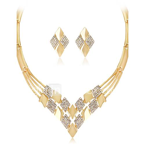 Women's Jewelry Set Necklace Fashion Euramerican Wedding Party Special Occasion Anniversary Birthday Congratulations Engagement Gift