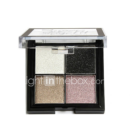Sugar Box 4 Color Eye Shadow Pigments Palette Eye Makup Eye Shadow Super Stage Fit Palette Cosmetic Makeup Set Nude Eye Shadow