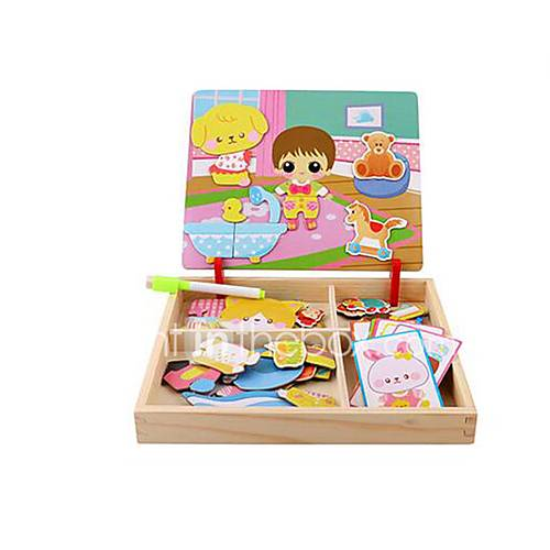 Jigsaw Puzzles DIY KIT Jigsaw Puzzle Logic  Puzzle Toys Building Blocks DIY Toys Square 1 Paper Wood Leisure Hobby