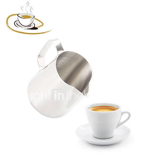1Pcs   350Ml Stainless Steel Espresso Coffee Pitcher Craft Latte Milk Frothing Jug