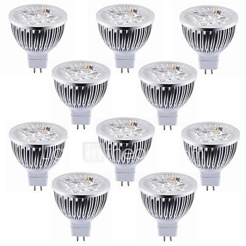 10pcs 5.5W MR16(GU5.3) LED Spotlight 4 High Power LED Warm/Cool White Led Spotlight Bulb Led Lamp DC12V