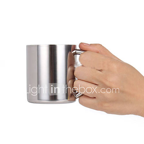 230ml Double Layers Cup Stainless Steel Mug for Child Kid Thermal Insulation Simple Style Drinkware Back to School