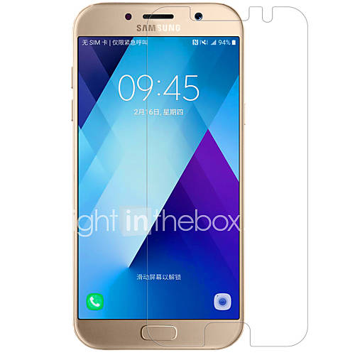 para Samsung a3 Galaxy (2017) nillkin hd paquete película anti huella digital adecuado