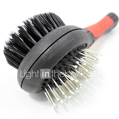 Pet double-sided massage brush stainless steel needle cats and dogs comb pet beauty modification hair tools Wholesale sales