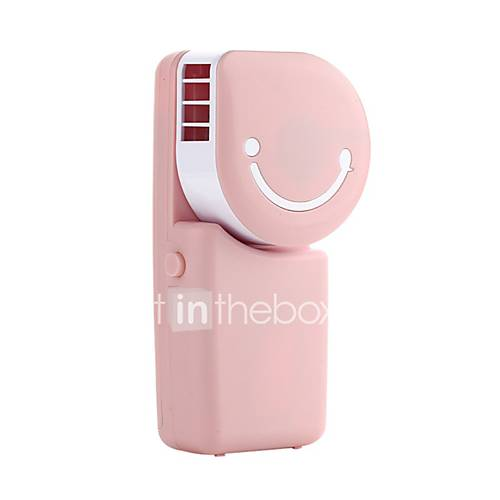 YY WT803A USB Mini Fan USB Mini Pocket Air Conditioning Fan Smile Face Charging Fan