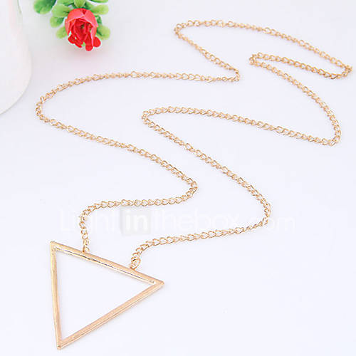 Women's Pendant Necklaces Triangle Shape Alloy Euramerican Fashion Silver Gold Jewelry For Daily 1pc