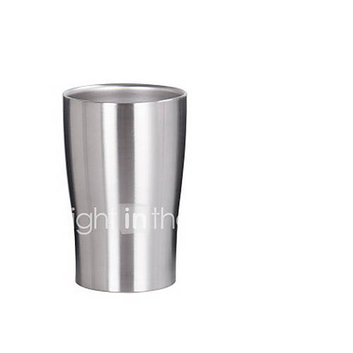 280ml Stainless Steel Double-deck Beer Glass Handy Cup