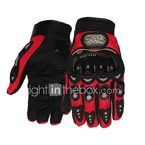 Hot 1 Pair Carbon Fiber Pro-Biker Bike Motorcycle Gloves Outdoor Sports Cycling Racing Driving Gloves Full Finger