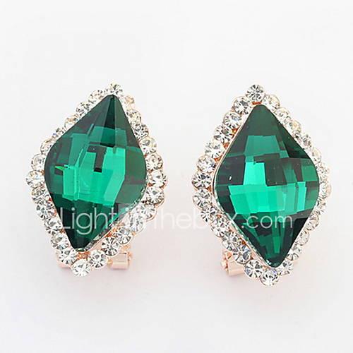 Korean Style Fashion Delicate Luxury Imitation Diamond Rhinestone Geometric Lady Daily Stud Earrings Movie Jewelry