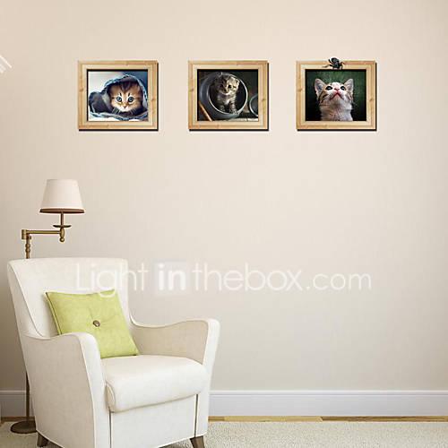 Cartoon Cats Photo Frame Wall Sticker Decorative Vinyl Wall Decal Adesivo De Parede Removable Wall Sticker Diy Wallpaper 3090Cm