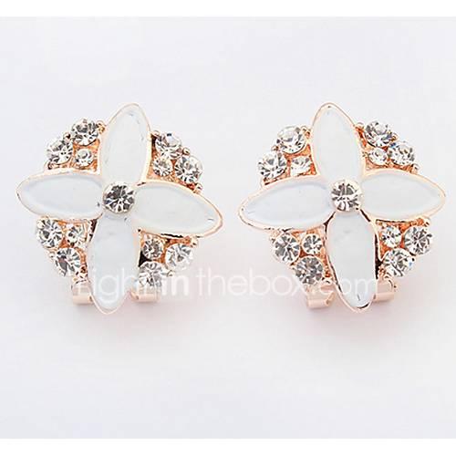 Bohemian  Fashion  Elegant  Rhinestone  Flower  Earrings  Lady  Party  Movie  Jewelry
