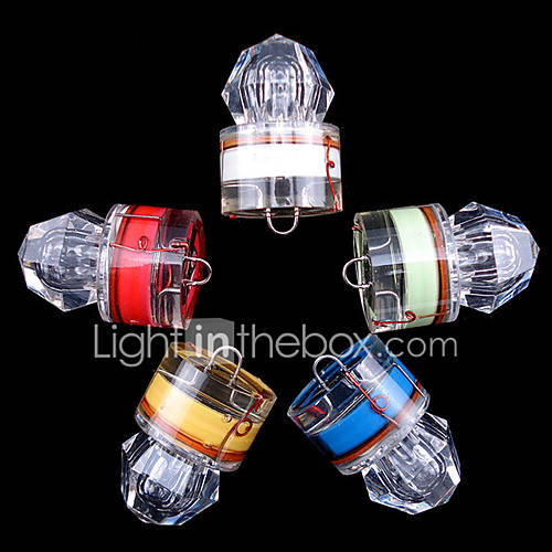 5x LED Fishing Light Deep Drop Underwater Diamond Shape Flashing Light Bait Lure