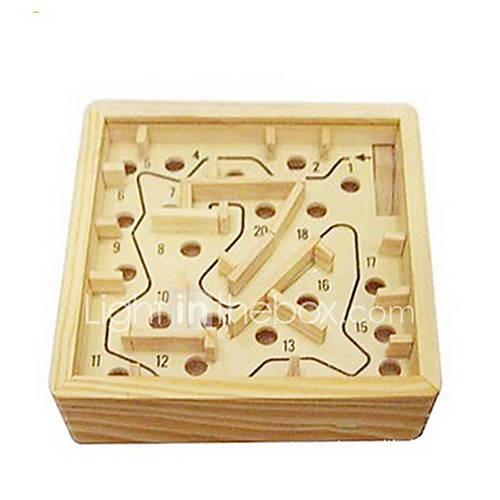 Board Game Balls Maze  Sequential Puzzles Maze Wooden Labyrinth Toys Square Wood Pieces Not Specified Gift