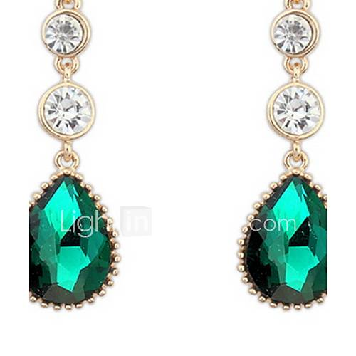 Euramerican Fashion Temperament Classic Droplets Gemstone Lady Party Earrings Movie Jewelry