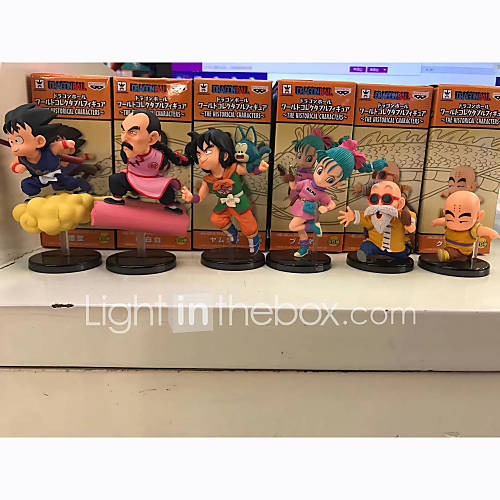 Anime Action Figures Inspired by Dragon Ball Son Goku PVC 8 CM Model Toys Doll Toy