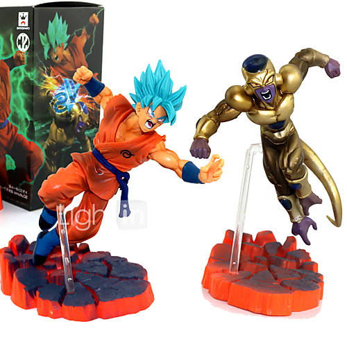 Dragon Ball Son Goku VS Frieza PVC 14CM Anime Action Figures Model Toys Doll Toy 2PCS