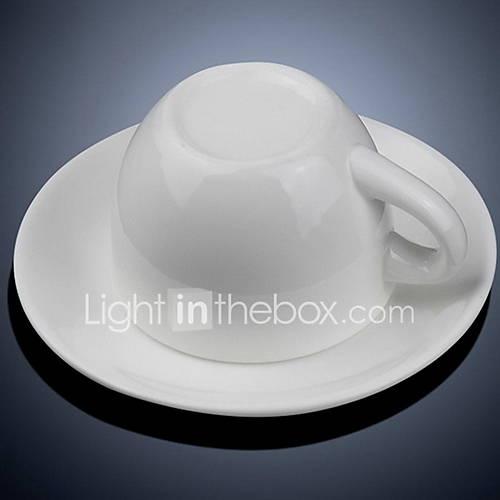 European Coffee Cup Set Simple White Creative Coffee Cup Spoon